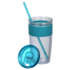 View Extra Image 1 of 2 of Refresh Pebble Tumbler with Straw - 16 oz. - Full Color