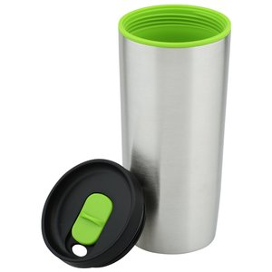 Custom Accent Stainless Travel Mug - 16 oz. Image 2 of 2