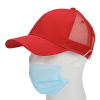 View Extra Image 2 of 3 of Trucker Mesh Back Cap with Face Mask Buttons