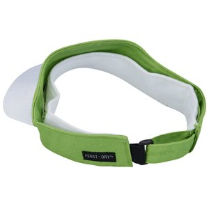Fairway Wicking Golf Visor with Tee Holder Image 2 of 2