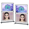"""View Extra Image 3 of 3 of FrameWorx Dual-Banner Stand - 41-1/2"""" - Double Sided"""