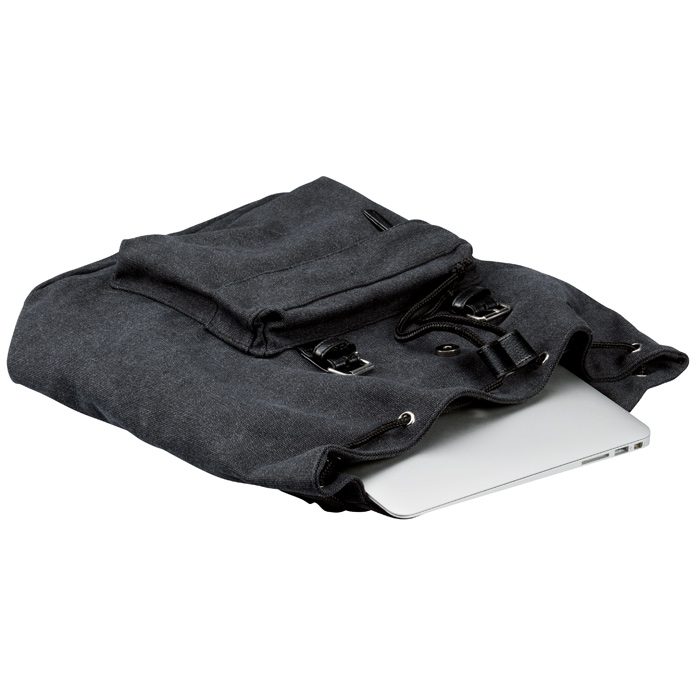 1df387ca151 4imprint.com: Bennett 16 oz. Canvas Rucksack Backpack 138926