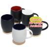 View Image 4 of 4 of Hearth Coffee Mug with Wood Lid Coaster - 14 oz.