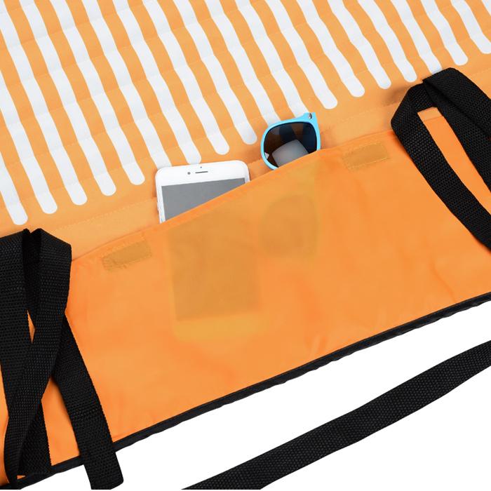 Beach Blanket Logo: 4imprint.com: Roll-Up Beach Blanket With Pillow