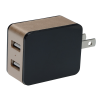 View Extra Image 1 of 5 of 2 Port USB Folding Wall Charger - Light-Up Logo