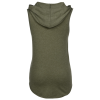 View Extra Image 1 of 2 of Optimal Tri-Blend Sleeveless Hooded T-Shirt - Ladies'