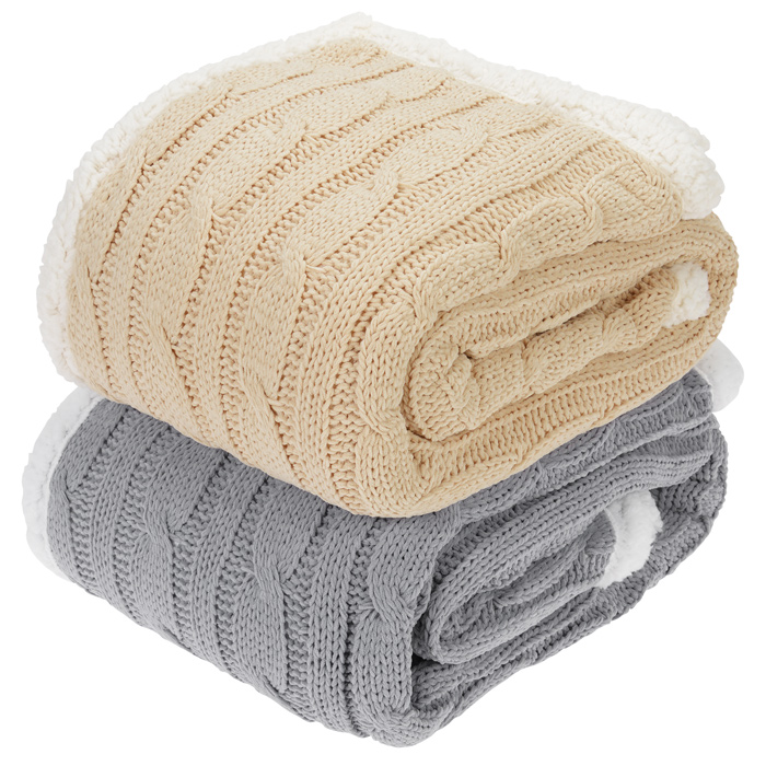 Elegant Cable Knit Chenille Throw (Item No. 140842) from only USD26.99 ready to...