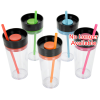 View Extra Image 4 of 4 of Aurora Tumbler with Straw - 16 oz. - 24 hr