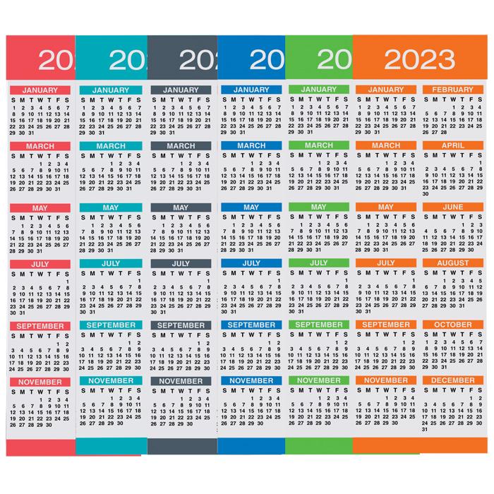 Calendar Bookmark : Imprint calendar bookmark quatrefoil q