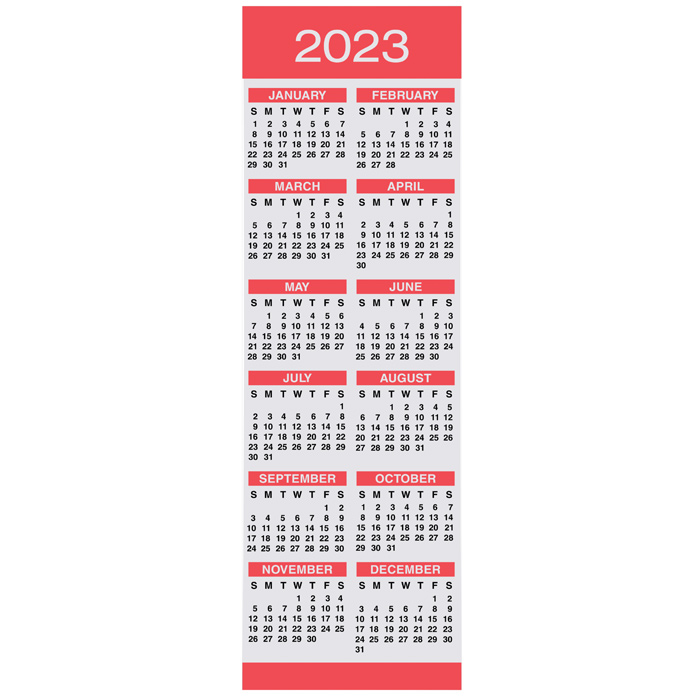 Calendar Bookmark : Imprint calendar bookmark marquise m