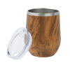 View Extra Image 1 of 1 of Corzo Vacuum Insulated Wine Cup - 12 oz. - Wood