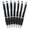 View Extra Image 2 of 3 of Evantide Light-Up Logo Stylus Twist Pen - Black - 24 hr
