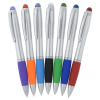 View Extra Image 3 of 5 of Evantide Light-Up Logo Stylus Twist Pen - Silver - 24 hr