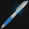 View Extra Image 5 of 5 of Evantide Light-Up Logo Stylus Twist Pen - Silver - 24 hr