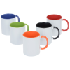 View Extra Image 1 of 1 of Color Handle Ceramic Mug - 11 oz. - Full Color