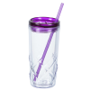 View Extra Image 1 of 3 of Refresh Simplex Tumbler with Straw - 16 oz. - Clear