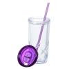 View Extra Image 2 of 3 of Refresh Simplex Tumbler with Straw - 16 oz. - Clear