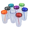View Extra Image 3 of 3 of Refresh Simplex Tumbler with Straw - 16 oz. - Clear - 24 hr