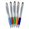 View Extra Image 3 of 4 of Sanibel Light-Up Logo Stylus Twist Pen - Silver