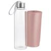 View Extra Image 1 of 2 of Aqua Pure Glass Bottle - 18 oz. - Metallic Sleeve