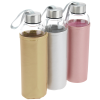 View Extra Image 2 of 2 of Aqua Pure Glass Bottle - 18 oz. - Metallic Sleeve