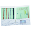 Full Color Paper Two-Pocket Presentation Folder - Marble Image 1 of 3