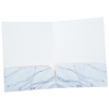 Full Color Paper Two-Pocket Presentation Folder - Marble Image 2 of 3