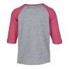 View Extra Image 2 of 2 of Rabbit Skins Fine Jersey Baseball Tee - Toddler - Screen