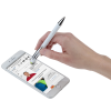 View Image 2 of 6 of Incline Soft Touch Stylus Metal Pen - White