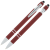 View Extra Image 1 of 2 of Incline Soft Touch Stylus Metal Pen with Antimicrobial Additive
