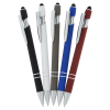 View Extra Image 2 of 2 of Incline Soft Touch Stylus Metal Pen with Antimicrobial Additive - 24 hr