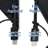 View Image 5 of 5 of Posh Duo Charging Cable Keychain