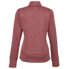View Extra Image 1 of 2 of adidas 3 Stripe Brushed Heather 1/4-Zip Pullover - Ladies'