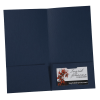 """View Extra Image 2 of 2 of Linen Paper Two-Pocket Mini Folder - 9-1/2"""" x 5"""""""