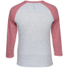 View Image 2 of 3 of Unisex Tri-Blend Baseball Tee - Screen