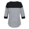View Extra Image 1 of 2 of New Era Heritage Blend 3/4 Sleeve Baseball Tee - Ladies' - Embroidered