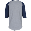 View Extra Image 2 of 2 of Augusta 3/4 Sleeve Baseball Jersey - Youth - Screen