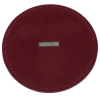 View Extra Image 1 of 2 of Vintage Round Bonded Leather Coaster
