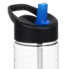 View Extra Image 1 of 2 of Clear Impact Halcyon Water Bottle with Two-Tone Flip Straw - 24 oz.