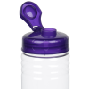 View Extra Image 2 of 2 of Clear Impact Halcyon Water Bottle with Flip Drink Lid - 24 oz.