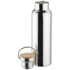 View Extra Image 1 of 2 of Accord Vacuum Stainless Bottle with Wood Lid - 21 oz. - Metallic Shine
