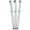 View Extra Image 2 of 4 of Cali Soft Touch Stylus Gel Pen - Silver
