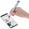 View Extra Image 1 of 4 of Cali Soft Touch Stylus Gel Pen - Silver - 24 hr