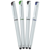View Extra Image 2 of 4 of Cali Soft Touch Stylus Gel Pen - Silver - 24 hr