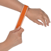 View Extra Image 1 of 3 of Nylon Reflective Slap Bracelet - 24 hr