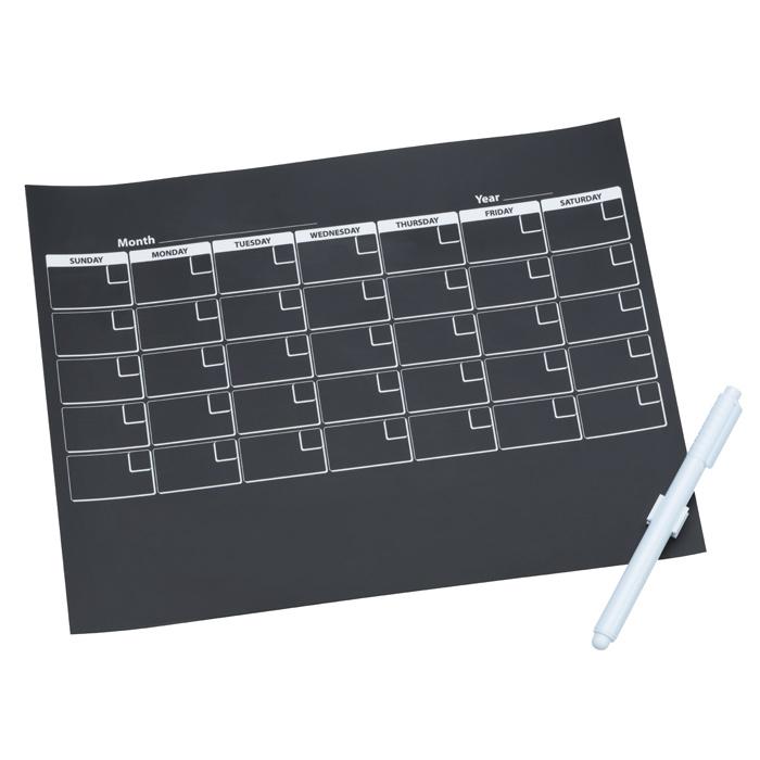 Chalkboard Calendar Canada : Imprint chalkboard calendar magnet