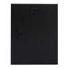 """View Extra Image 1 of 1 of Black Glass Wall Plaque - 9"""""""