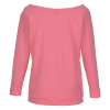 View Extra Image 2 of 2 of Next Level French Terry Raglan 3/4 Sleeve T-Shirt - Ladies'