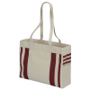 View Extra Image 1 of 3 of Fletcher 16 oz. Cotton Striped Tote - 24 hr