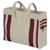 View Extra Image 2 of 3 of Fletcher 16 oz. Cotton Striped Tote - 24 hr